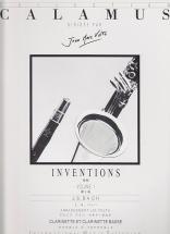 Bach - Inventions Vol.1 Pour Clarinette Et Clarinette Basse