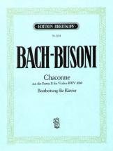Bach Johann Sebastian - Chaconne D-moll Aus Bwv 1004 - Piano