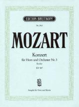 Mozart Wolfgang Amadeus - Hornkonzert Nr.3 Es-dur Kv 447 - Horn, Piano