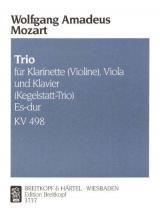 Mozart Wolfgang Amadeus - Trio Es-dur Kv 498 - Clarinet, Viola, Piano
