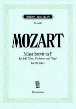Mozart Wolfgang Amadeus - Missa Brevis In F Kv 192 - Soli, Choir And Orchestra