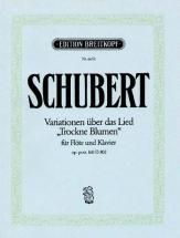 Schubert Franz - Trockne Blumen D 802 - Flute, Piano