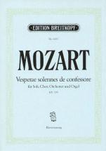 Mozart Wolfgang Amadeus - Vesperae Solennes Kv 339 - Soli Choir And Orchestra