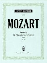Mozart Wolfgang Amadeus - Klarinettenkonzert A-dur Kv622 - Clarinet, Piano