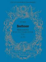 Beethoven Ludwig Van - Missa Solemnis D-dur Op. 123 - Soli, Mixed Choir, Orchestra