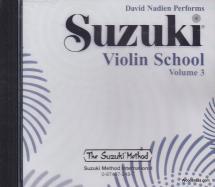 Suzuki Violin School Vol.3 - Cd Seul (david Nadien Performs)