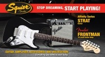Squier By Fender Affinity Strat + Ampli Fender Frontman 10g - Brown Sunburst