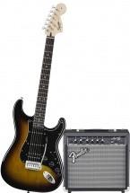 Squier By Fender Affinity Strat Hss + Ampli Fender Frontman 15g - Brown Sunburst