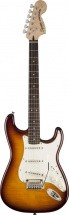 Squier By Fender Standard Stratocaster Table Erable Flame Amber Transparent