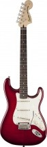 Squier By Fender Standard Stratocaster Flame Maple Top Crimson Red Transparent