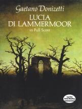 Donizetti Lucia Di Lammermoor Full Score - Voice