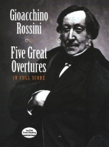Rossini Five Great Overtures In Full Score - Orchestra