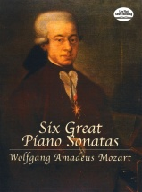 Mozart Wa Six Great Piano Sonatas - Piano Solo