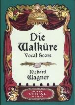 Richard Wagner Die Walkure Vocal Score Opera - Choral