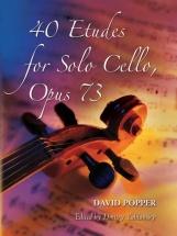 David Popper 40 Etudes For Solo Cello Op.73 - Cello