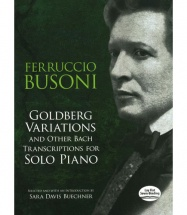 Bach - Goldberg Variations And Other Bach Transcriptions - Piano Solo