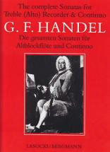 Haendel The Complete Sonatas For Treble (alto) Recorder & Continuo