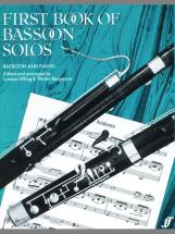 Hilling L / Bergmann W - First Book Of Bassoon Solos (complete) - Bassoon And Piano