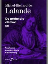 Lalande Michel Richard De - De Profundis Clamavi  - Vocal Score (par 10 Minimum)