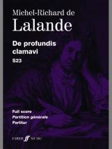 Lalande Michel Richard De - De Profundis Clamavi - Score