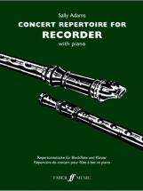 Adams Sally - Concert Repertoire - Recorder And Piano