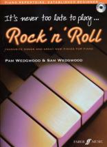 Wedgwood Pam - It's Never Too Late To Play Rock'n'roll + Cd - Piano
