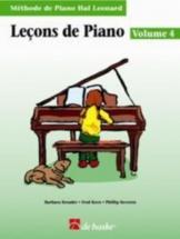 Leçons De Piano Vol.4 + Cd - Methode De Piano Hal Leonard