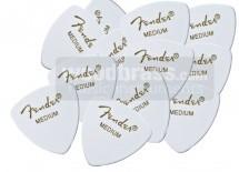 Fender Pack De 12 Mediators Forme 346 Blancs Moyen Medium