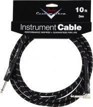 Fender Cable 3 M Coude Tweed Noir Custom Shop Series