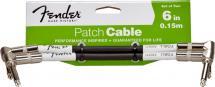 Fender Cable Patch 15 Cm Performance Series (pack De 2) Noir Black