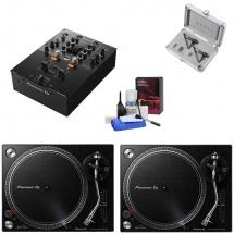 Pioneer Dj Pack Plx-500-k + Djm 250mk2 + Ortofon Twin Mix + Kit Nettoyage