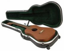 Skb 1skb-18rw Coque Rigide   Roulettes Pour Guitare Acoustique, Homologue Ata