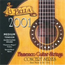 Labella Pack De 12 Cordes Flamenco Nylon Noir Mi 1 ? Concert Serie ? Medium Tension