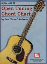 Drew Andrews Lee - Open Tuning Chord Chart - Guitar