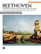 Beethoven Ludwig Van - Complete Piano Sonatas Volume 1 Of 2 - Piano Solo