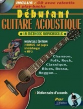 Debutant Guitare Acoustique Rebillard Tab + Cd