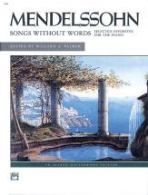 Mendelssohn-bartholdy Flix - Songs Without Words Selected Favorites - Piano