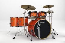 Tama Sl62hzbns-bom - Kit Superstar Custom Hyper-drive 6 F�ts Sans Accessoires - Bright Orange Metallic