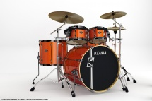 Tama Sl52hxzb5s-bom - Kit Superstar Custom Hyper-drive Rock 5 F�ts Sans Accessoires - Bright Orange Metal