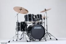 Tama Ip58h6-hbk - Kit Imperialstar 5 Futs Avec Accessoires - Hairline Black