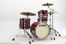 Tama Va48s-sma - Kit Silverstar Jazzette Tamo Ash 4 Futs Sans Accessoires - Satin Mahogany Tamo Ash