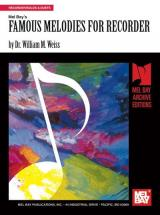William Weiss Dr. - Famous Melodies For Recorder - Recorder