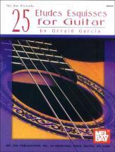 Garcia Gerald - 25 Etudes Esquisses For Guitar - Guitar