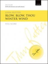 John Rutter - Blow Blow Thou Winter Wind - Full Score