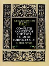 Bach J.s. - Complete Concertos For Harpsichords - Full Score