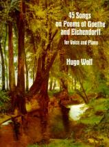 Wolf Hugo - 45 Songs On Poems Of Goethe And Eichendorf - Chant, Piano