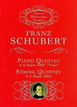 Schubert F. - Piano Quintet & String Quintet - Conducteur Poche