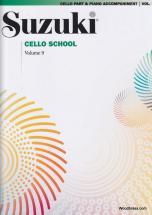 Suzuki Cello School Vol. 9 - (avec Accompagnement De Piano)