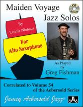 Maiden Voyage Jazz Solos For Alto Sax + Cd