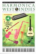 Nguyen Jean-louis - Harmonica West Indies - Partitions Tous Instruments Avec Diagrammes Guitare + Cd